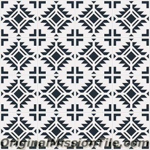 Original Mission Tile Cement Encanto Cean 01 - 8 x 8