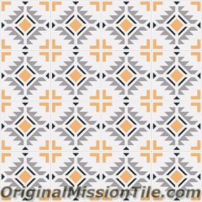 Original Mission Tile Cement Encanto Cean 05 - 8 x 8