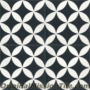 Original Mission Tile Cement Contemporary Circulos 01 - 8 x 8