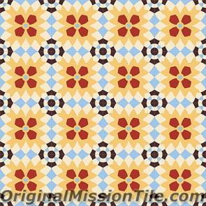 Original Mission Tile Cement Encanto Luisa 17 - 8 x 8
