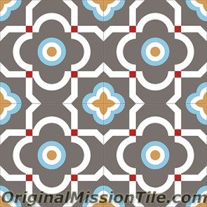 Original Mission Tile Cement Encanto Marci 20 - 8 x 8