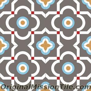 Original Mission Tile Cement Encanto Marci 20 - 8 x 8