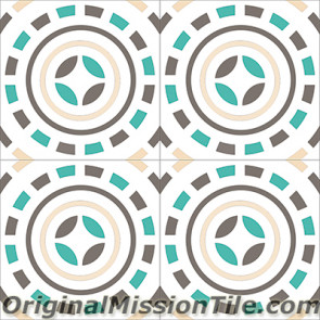 Original Mission Tile Cement Encanto Pasquale 06 - 8 x 8