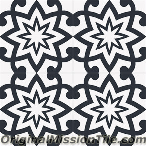 Original Mission Tile Cement Encanto Patrice 01 - 8 x 8