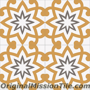Original Mission Tile Cement Encanto Patrice 02 - 8 x 8