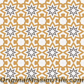 Original Mission Tile Cement Encanto Patrice 02 - 8 x 8
