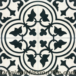 Original Mission Tile Cement Contemporary Roseton 04 - 8 x 8