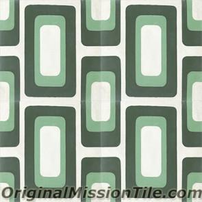 Original Mission Tile Cement Oceana Sea Island 02 - 8 x 8