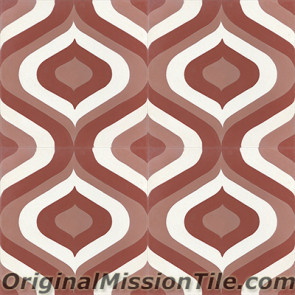 Original Mission Tile Cement Oceana Sirene 03 - 8 x 8