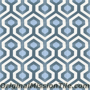 Original Mission Tile Cement Oceana Skyline 03 - 8 x 8