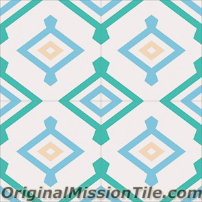 Original Mission Tile Cement Encanto Yaneli 08 - 8 x 8
