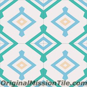 Original Mission Tile Cement Encanto Yaneli 08 - 8 x 8