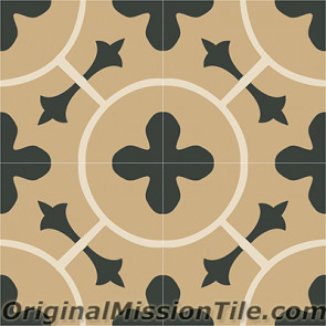Original Mission Tile Cement Classic Africa 01 - 8 x 8