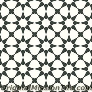 Original Mission Tile Cement Contemporary Agadir 02 - 8 x 8