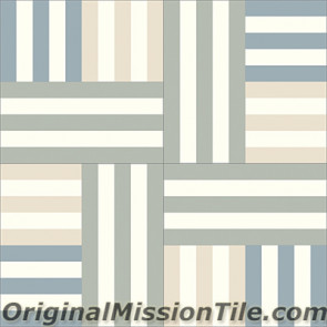 Original Mission Tile Cement Lee Agnes 03 - 8 x 8