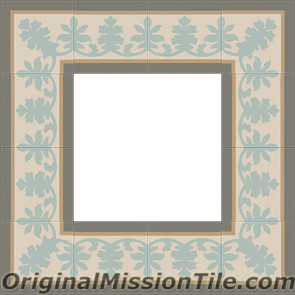 Original Mission Tile Cement Border Alamo - 8 x 8