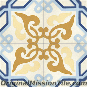 Original Mission Tile Cement Classic Alcala - 8 x 8