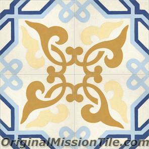Original Mission Tile Cement Classic Alcala - 8 x 8