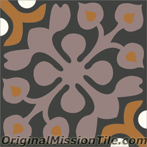 Original Mission Tile Cement Classic Alice 01 - 8 x 8