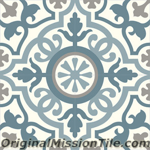 Original Mission Tile Cement Classic Amalia 03 - 8 x 8