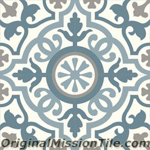 Original Mission Tile Cement Classic Amalia 03 - 8 x 8