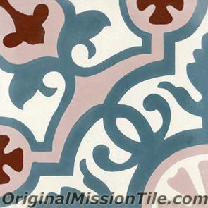 Original Mission Tile Cement Classic Amalia 04 - 8 x 8