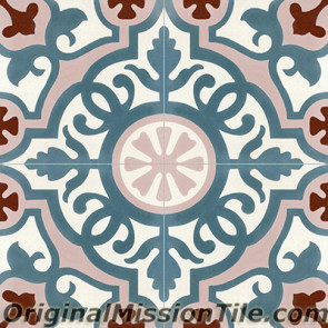 Original Mission Tile Cement Classic Amalia 04 - 8 x 8