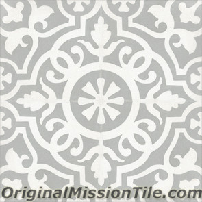 Original Mission Tile Cement Contemporary Amalia II 01 - 8 x 8