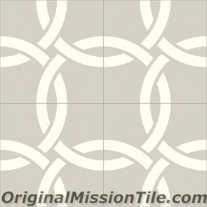Original Mission Tile Cement Contemporary Aros II 03 - 8 x 8