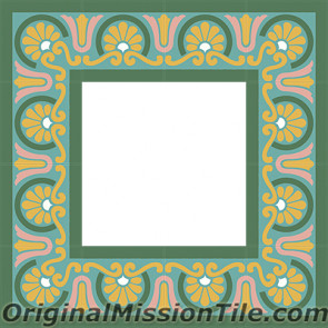 Original Mission Tile Cement Border Aurora - 8 x 8