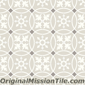 Original Mission Tile Cement Contemporary Baragua 02 - 8 x 8