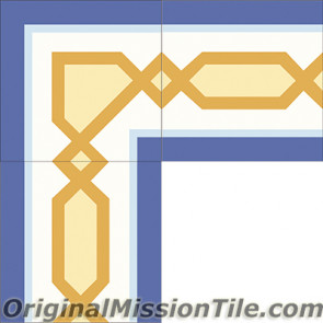 Original Mission Tile Cement Border Chippendale - 8 x 8