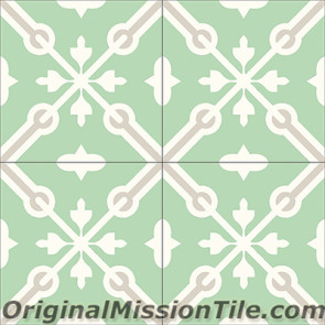 Original Mission Tile Cement Classic Blois 01 - 8 x 8