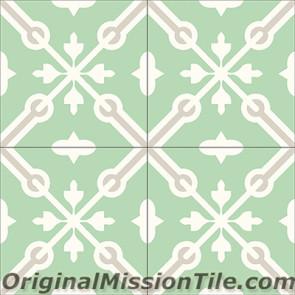 Original Mission Tile Cement Classic Blois 01 - 8 x 8