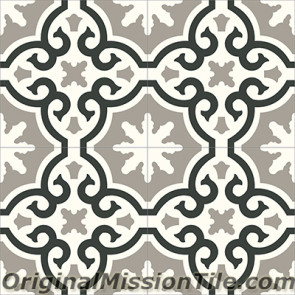 Original Mission Tile Cement Contemporary Bocassio 03 - 8 x 8