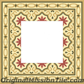Original Mission Tile Cement Border Bocassio - 8 x 8
