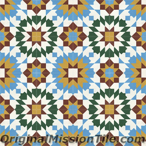 Original Mission Tile Cement Moroccan Casa Blanca - 8 x 8