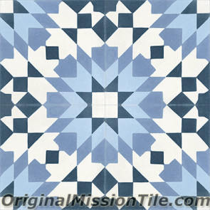 Original Mission Tile Cement Moroccan Casa Blanca 03 - 8 x 8