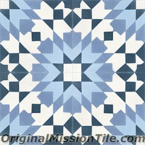Original Mission Tile Cement Moroccan Casa Blanca 03 - 8 x 8