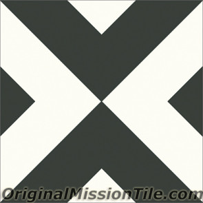 Original Mission Tile Cement Contemporary Checkered 01 - 8 x 8