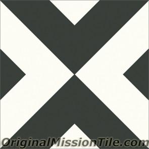 Original Mission Tile Cement Contemporary Checkered 01 - 8 x 8