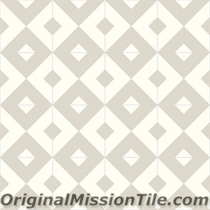 Original Mission Tile Cement Contemporary Checkered 02 - 8 x 8