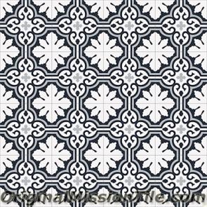 Original Mission Tile Cement Accent Christen - 8 x 8