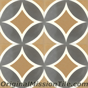 Original Mission Tile Cement Classic Circle II - 8 x 8