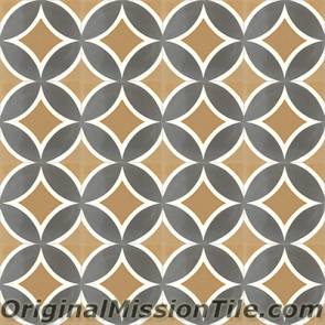 Original Mission Tile Cement Classic Circle II - 8 x 8