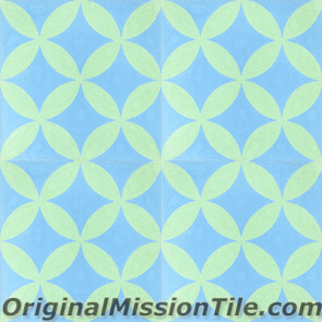 Original Mission Tile Cement Classic Circulos 04 - 8 x 8