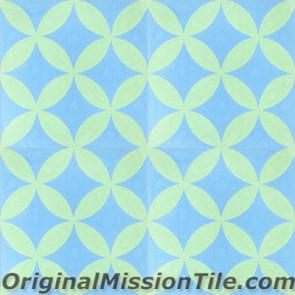 Original Mission Tile Cement Classic Circulos 04 - 8 x 8