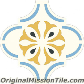 Original Mission Tile Cement Colonial Arab 01 - 8 x 8