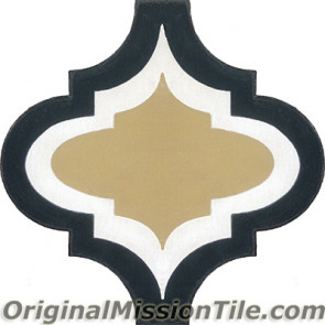 Original Mission Tile Cement Colonial Frame 02 - 8 x 8