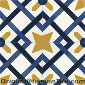 Original Mission Tile Cement Classic Cordoba 01 - 8 x 8
